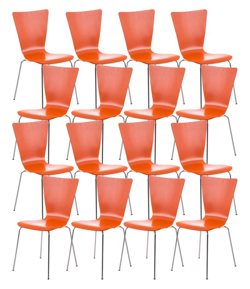 16er Set Besucherstuhl Aaron orange