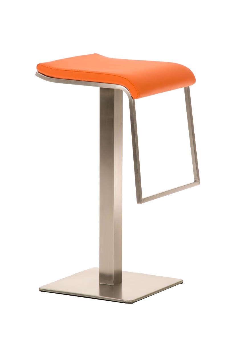 Barhocker Lameng Kunstleder E85 orange