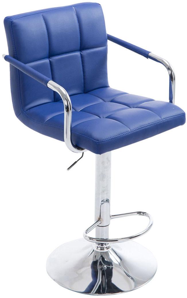 Barhocker Lucy V2 chrom blau