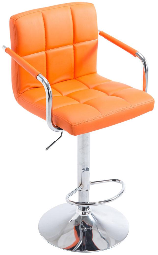 Barhocker Lucy V2 chrom orange