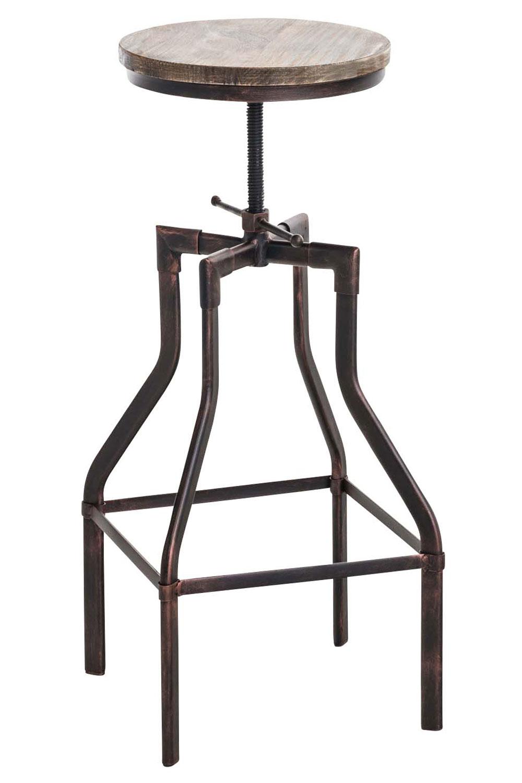 Barhocker Swansea, Holz bronze
