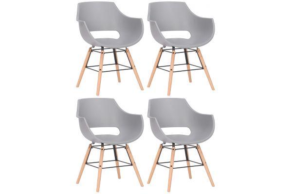 4er Set Stühle Skien Kunststoff