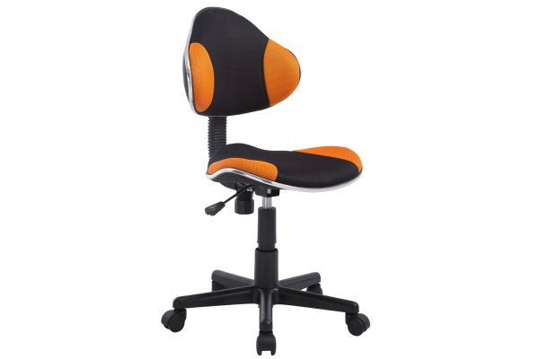 Arbeitshocker Bastian, schwarz orange