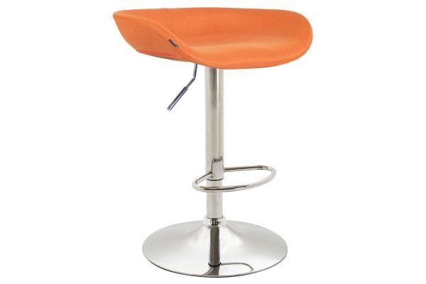 Barhocker Anaheim Stoff chrom orange