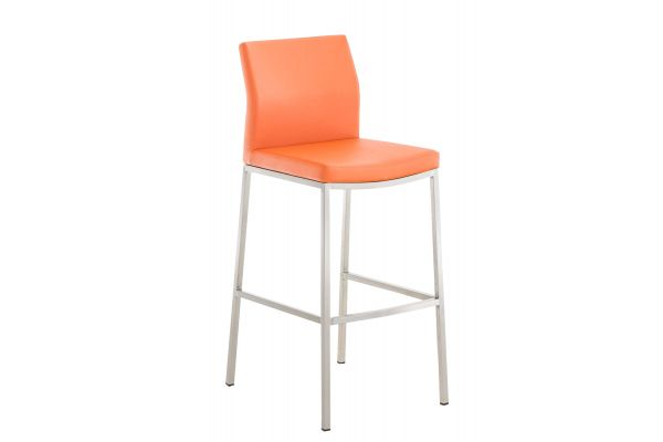 Barhocker Ottawa Kunstleder orange