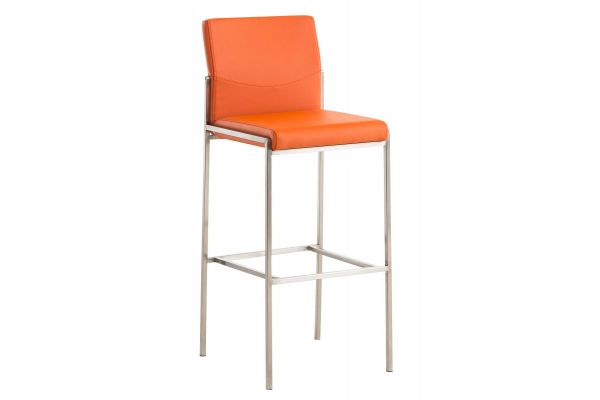 Barhocker Torino E Kunstleder orange