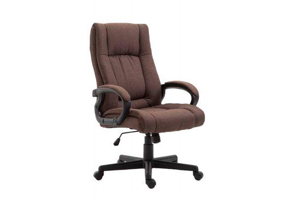 Bürostuhl XL Sparta Stoff braun