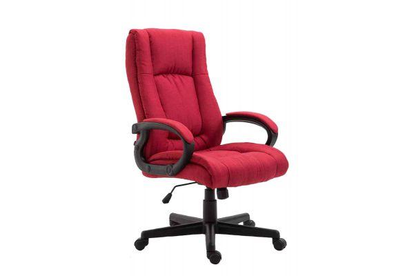 Bürostuhl XL Sparta Stoff rot