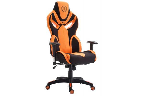 Racing Bürostuhl Fangio Stoff schwarz/orange