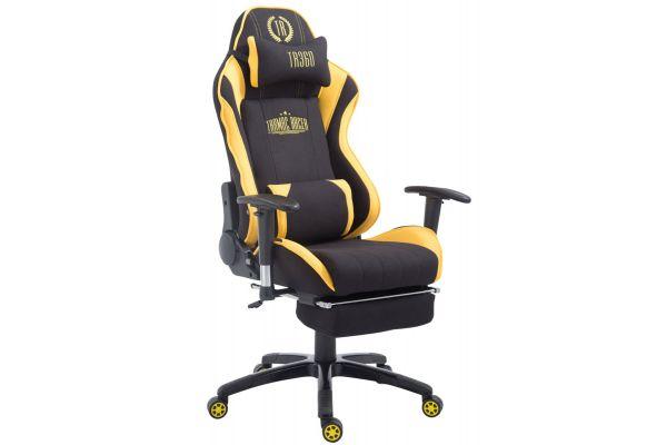 Racing Bürostuhl Shift Stoff mit Fußablage schwarz/gelb