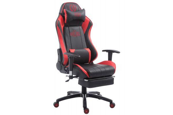 Racing Bürostuhl Shift mit Fußablage schwarz/rot