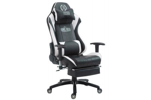 Racing Bürostuhl Shift mit Fußablage schwarz/weiß