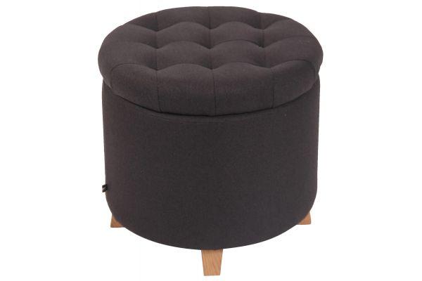 Sitzhocker Marsa Stoff schwarz