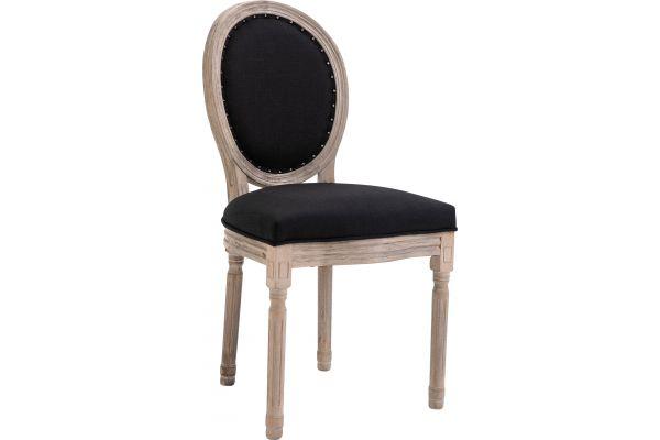 Stuhl Lorient Stoff antik schwarz