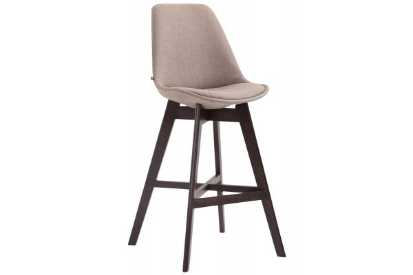 Barhocker Cannes Stoff Cappuccino taupe