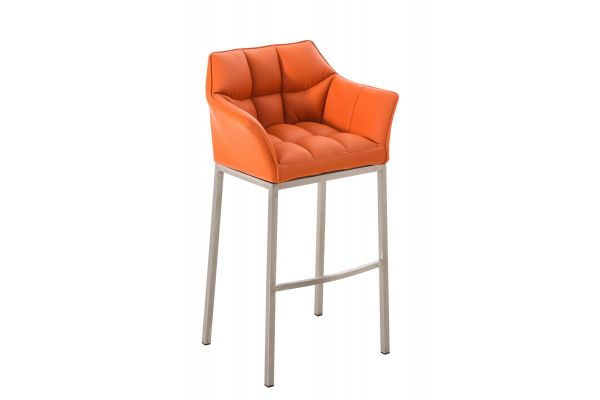 Barhocker Damaso E mit 4-Fuß Gestell orange