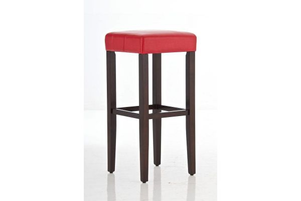 Barhocker Dion cappuccino/rot