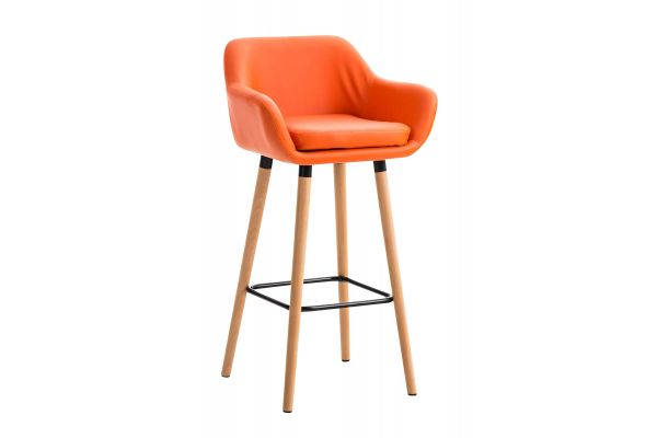 Barhocker Grant Kunstleder orange