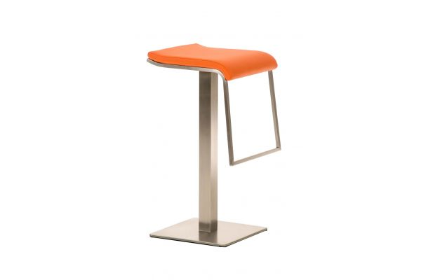 Barhocker Lameng Kunstleder E85 orange