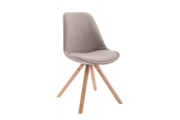 Besucherstuhl Toulouse Stoff Natura Square taupe
